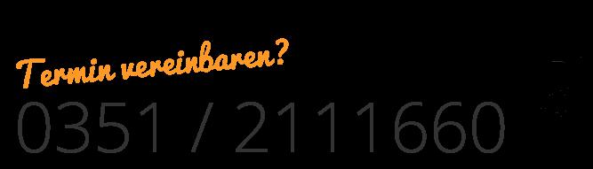 Telefonnummer der Logopädie Düker - Tel. 0351-2111660